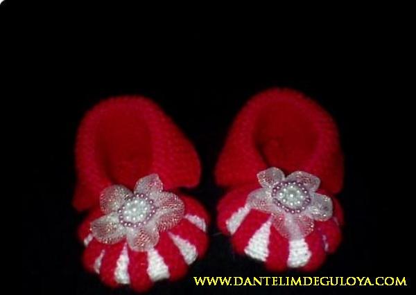 Kırmızı Kız Bebek Patik Modelleri