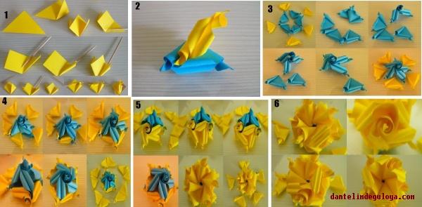 Origami Gül Yapımı(Nasıl Yapılır)
