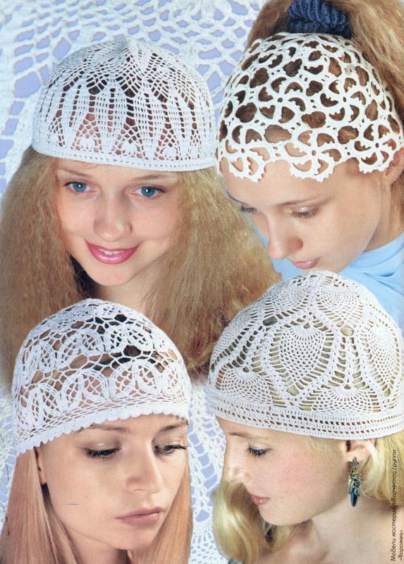 Модели вязания летних шапочек
