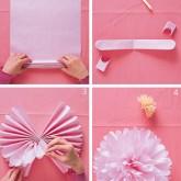 Kağıttan El Yapımı Karanfil Motifi