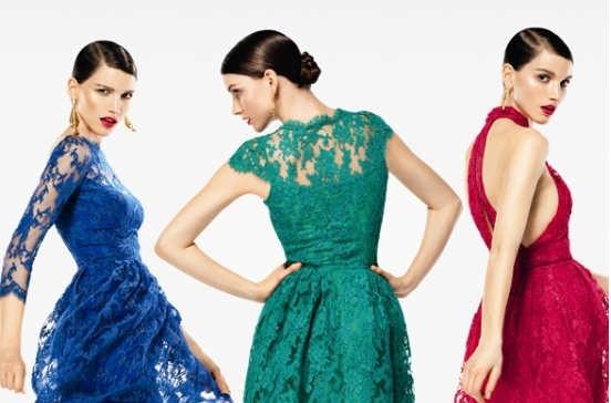 Rengarenk Yazlık Dantel Elbise Modeli