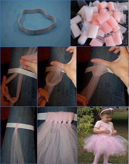 bebek için prenses eteği yapımı