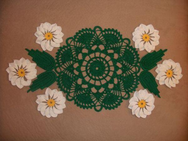 Çiçek Modelleri Tepsi Örtüsü