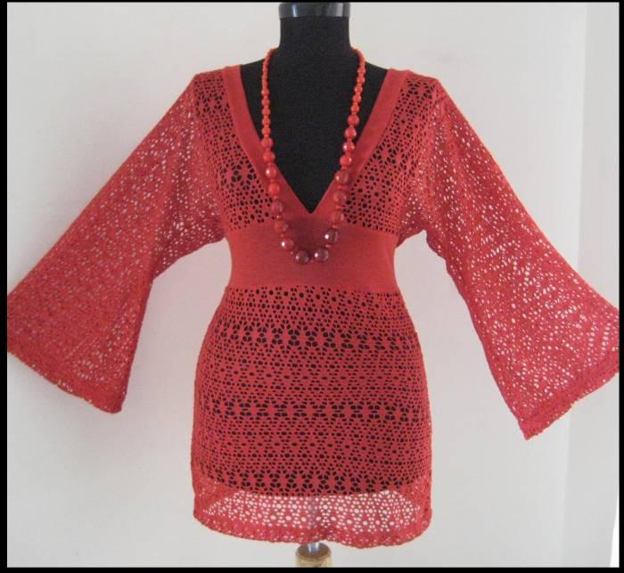 Kırmızı Tunik Modeli