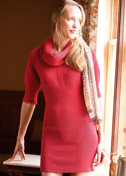Kırmızı Örgü Elbise Modelleri