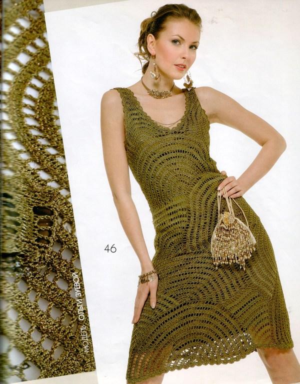 Yeşil Örgü Elbise Modelleri