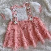 Şık Elişi Örgü Bebek Elbisesi Modelleri