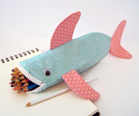 Balık Şeklinde Elişi Kalem kutu Modelleri