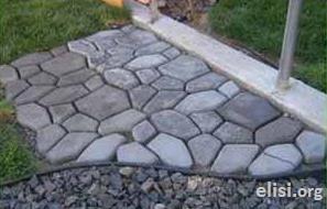 Bahçelere Dekoratif Kolay Taş Yol Yapımı