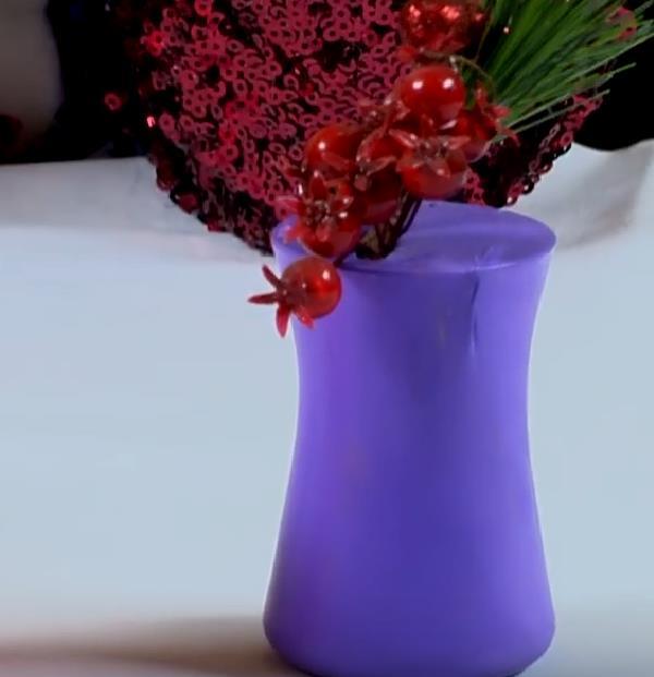 Elişi Çay Bardağından Dekoratif Vazo Yapılışı